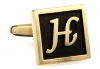Egypt stylish letter H cufflinks