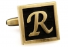 Egypt stylish letter R cufflinks