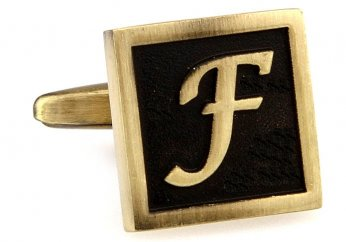 Egypt stylish letter F cufflinks