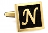 Egypt stylish letter N cufflinks