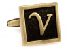 Egypt stylish letter V cufflinks
