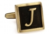 Egypt stylish letter J cufflinks