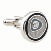 Gray desert round shape cufflinks