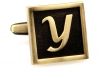 Egypt stylish letter Y cufflinks