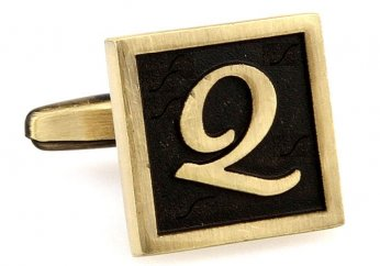 Egypt stylish letter Q cufflinks