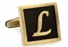 Egypt stylish letter L cufflinks