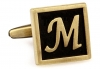 Egypt stylish letter M cufflinks