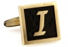Egypt stylish letter I cufflinks