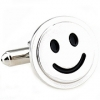 Smile face cufflinks