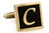 Egypt stylish letter C cufflinks