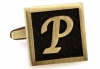 Egypt stylish letter P cufflinks