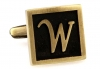 Egypt stylish letter W cufflinks