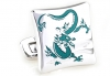 Blue magic dragon cufflinks