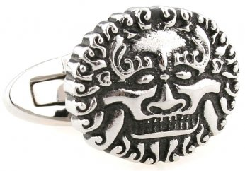 Silver Chinese lion cufflinks