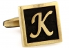 Egypt stylish letter K cufflinks