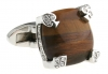 Elegant brown wedding cufflinks