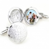 China stylish circle photo frame cufflinks