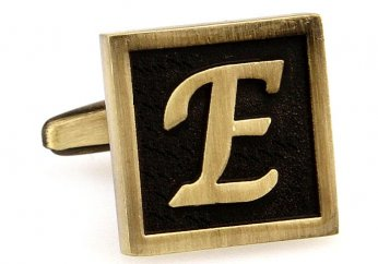Egypt stylish letter E cufflinks
