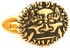 Golden Chinese lion cufflinks