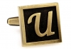 Egypt stylish letter U cufflinks