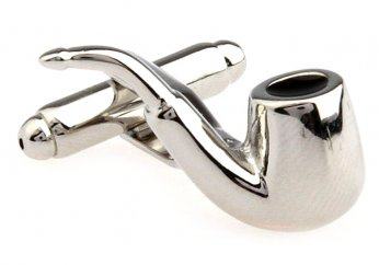 Tobacco pipe cufflinks