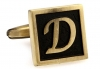 Egypt stylish letter D cufflinks