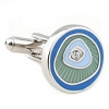 Blue desert round shape cufflinks