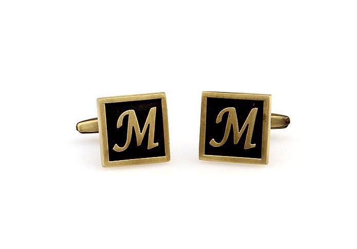 Egypt stylish letter M cufflinks